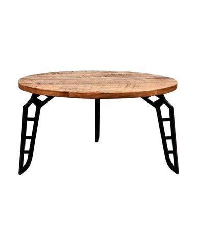 Konferenčný stolík s doskou z mangového dreva LABEL51 Flintstone, ⌀ 80 cm