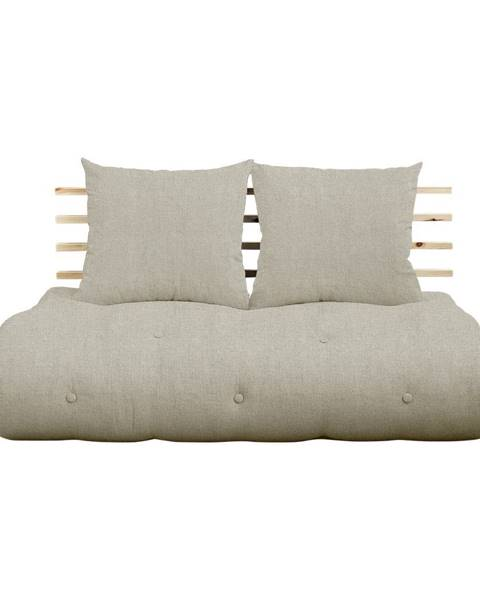 Karup Design Rozkladacia pohovka s ľanovým poťahom Karup Design Shin Sano Natural/Linen