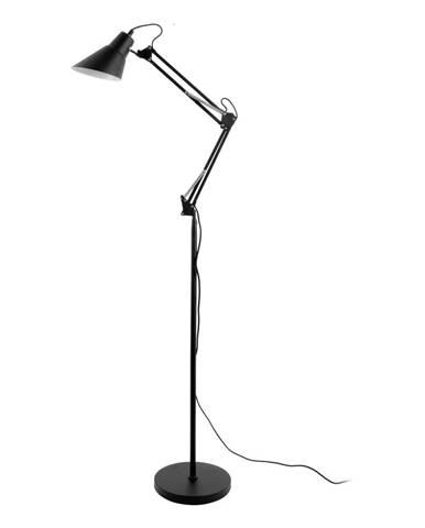 Čierna železná stojacia lampa Leitmotiv Fit