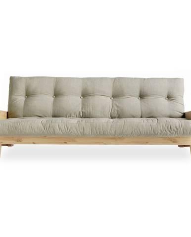 Rozkladacia pohovka s ľanovým poťahom Karup Design Indie Natural/Linen
