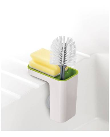 Bielo-zelený stojanček na umývacie prostriedky Joseph Joseph Caddy SinkPod