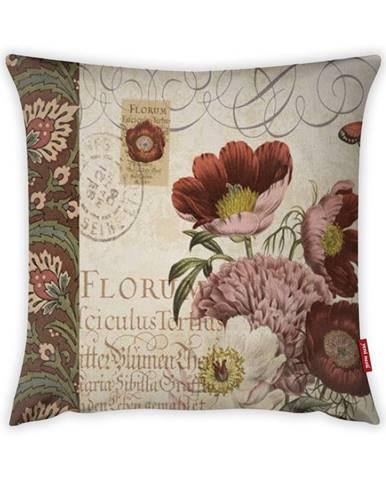 Obliečka na vankúš Vitaus Maseto Flowers Rusto Dos, 43×43 cm