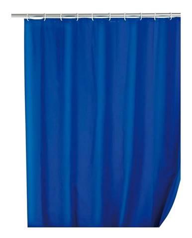 Modrý sprchový záves Wenko Simpler, 180 x 200 cm