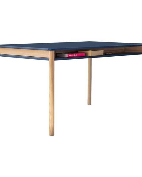 Ragaba Tmavomodrý jedálenský stôl z dubového dreva Ragaba Zeen