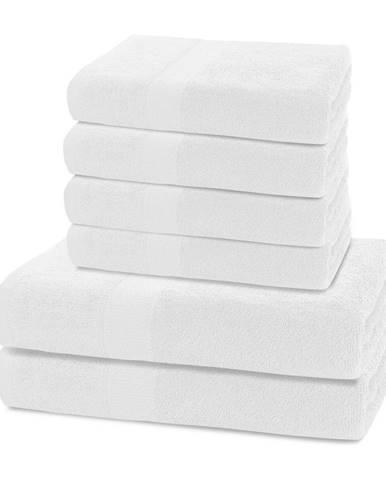 Biely uterák DecoKing Marina, 70 × 140 cm