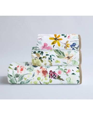 Súprava 3 uterákov z bavlny a mikrovlákna Surdic Calm Flowers