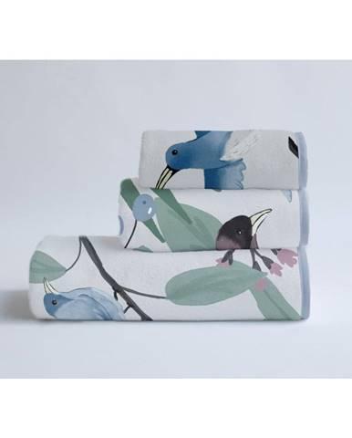 Súprava 3 uterákov z bavlny a mikrovlákna Surdic Tropical Birds