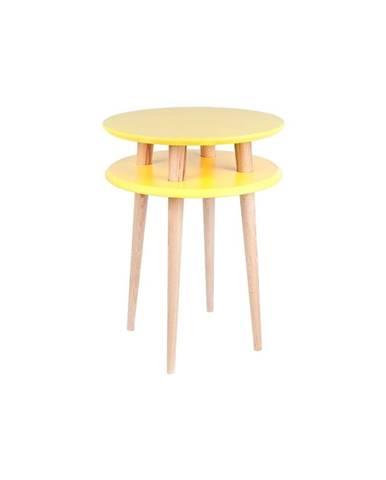 Žltý odkladací stolík Ragaba UFO, ⌀ 45 cm