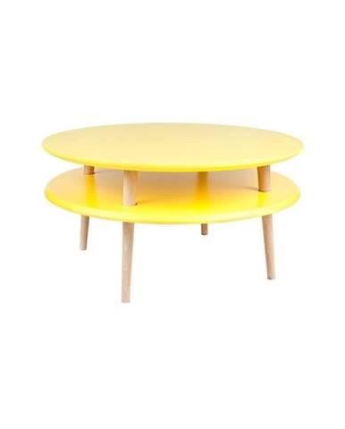 Žltý konferenčný stolík Ragaba UFO, ⌀70 cm