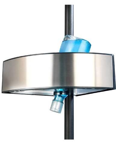 Teleskopická rohová polica do sprchy Wenko Prea Silver/Black, 27 × 20 cm