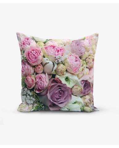 Obliečky na vankúš s prímesou bavlny Minimalist Cushion Covers Roses, 45×45cm
