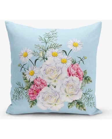 Obliečka na vankúš s prímesou bavlny Minimalist Cushion Covers Flowerita, 45×45 cm