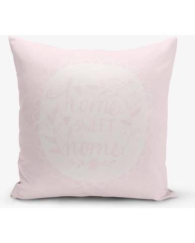 Obliečka na vankúš s prímesou bavlny Minimalist Cushion Covers Home Sweet Home, 45×45 cm