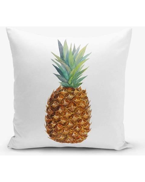 Minimalist Cushion Covers Obliečka na vankúš s prímesou bavlny s motívom ananasu Minimalist Cushion Covers Pine, 45×45 cm