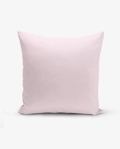 Ružová obliečka na vankúš s prímesou bavlny Minimalist Cushion Covers , 45×45 cm