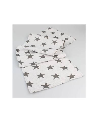 Biely behúň na stôl s hviezdami Dakls