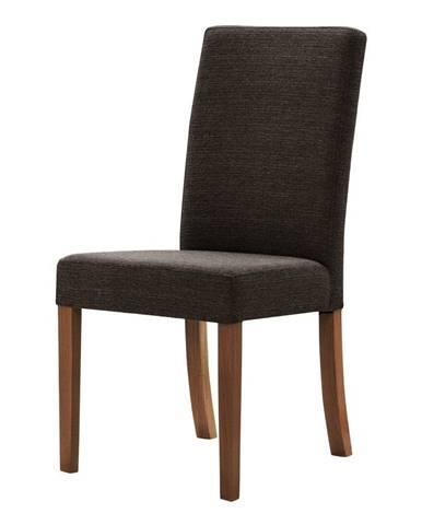 Hnedá stolička s tmavohnedými nohami Ted Lapidus Maison Tonka