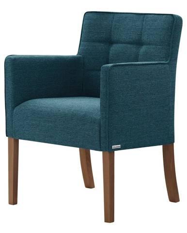 Tyrkysová stolička s tmavohnedými nohami Ted Lapidus Maison Freesia