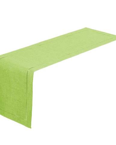 Limetkovo-zelený behúň na stôl Unimasa, 150 x 41 cm