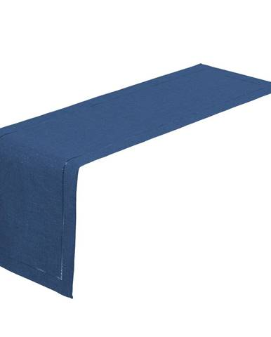 Tmavomodrý behúň na stôl Unimasa, 150x41cm