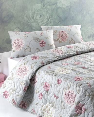 Súprava prešívanej prikrývky na posteľ a obliečky na vankúš Eponj Home Sandiego, 160x200 cm