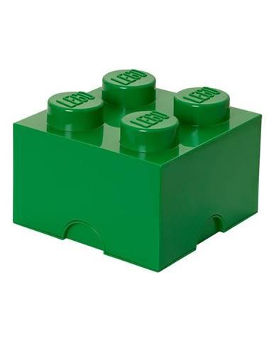 Zelený úložný box štvorec LEGO®