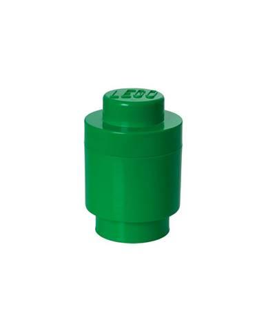 Zelený úložný okrúhly box LEGO®, ⌀12,5cm