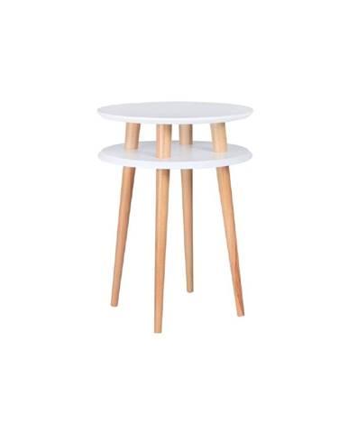 Biely odkladací stolík Ragaba UFO, Ø 45 cm