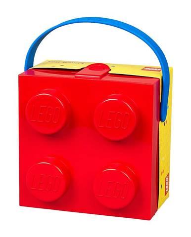 Červený úložný box s rukoväťou LEGO®