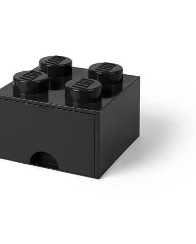 Čierny úložný box štvorec LEGO®