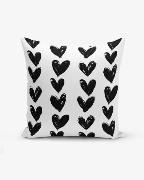 Minimalist Cushion Covers Obliečka na vankúš s prímesou bavlny Minimalist Cushion Covers Black Heart, 45×45 cm