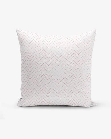 Obliečka na vankúš s prímesou bavlny Minimalist Cushion Covers Fusya Colorful Zigzag Modern, 45×45 cm