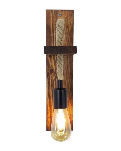 All Design Nástenné svietidlo z borovicového dreva Galinos