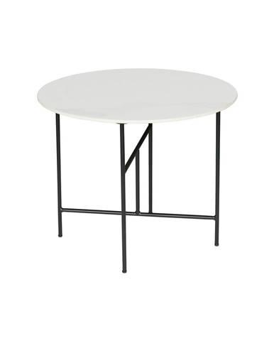 Biely konferenčný stôl s porcelánovou doskou WOOOD Vida, ⌀ 60 cm