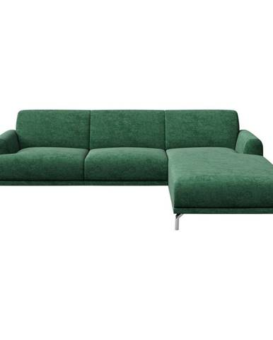 Zelená rohová pohovka MESONICA Puzo, pravý roh