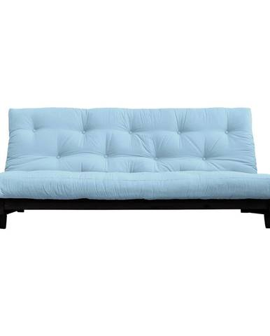 Rozkladacia pohovka so svetlomodrým poťahom Karup Design Fresh Black/Light Blue
