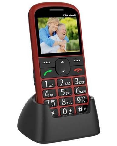 Mobilný telefón CPA Halo 11 Senior červený