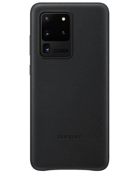 Samsung Kryt na mobil Samsung Leather Cover na Galaxy S20 Ultra čierny