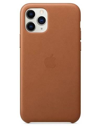 Kryt na mobil Apple Leather Case pre iPhone 11 Pro - sedlovo hnedý