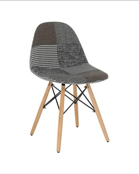 Kondela Dizajnová stolička látka patchwork PEPITO TYP 9