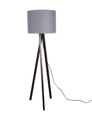 Stojacia lampa sivá/drevo čierne LILA TYP 10 LS6062