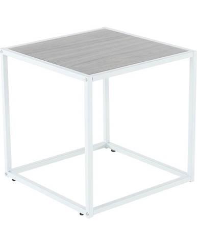 Príručný stolík dub/biela JAKIM TYP 2 NEW