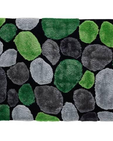Koberec zelená/sivá/čierna 100x140 PEBBLE TYP 1