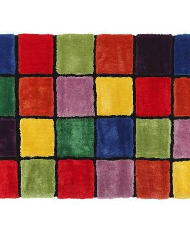 Koberec červená/zelená/žltá/fialová 140x200 LUDVIG TYP 4