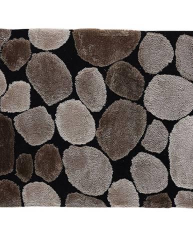 Koberec hnedá/čierna 100x140 PEBBLE TYP 2