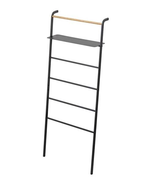 YAMAZAKI Čierny vešiak s poličkou YAMAZAKI Tower Ladder