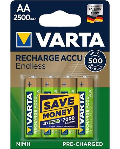 Batéria nabíjacie Varta Endless HR06, AA, 2500mAh, Ni-MH, blistr