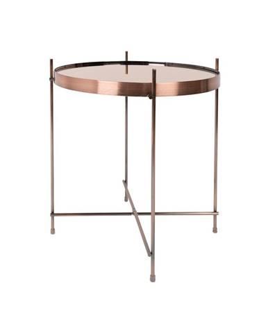 Odkladací stolík v medenej farbe Zuiver Cupid, ø43cm