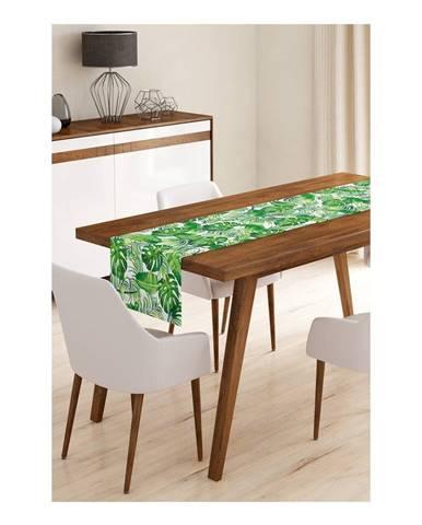 Behúň na stôl z mikrovlákna Minimalist Cushion Covers Green Jungle Leaves, 45×145 cm