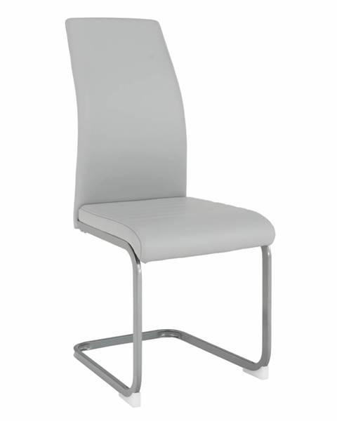 Kondela Jedálenská stolička svetlosivá/sivá NOBATA rozbalený tovar